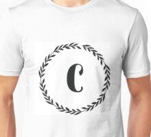 Monogram Wreath - C Unisex T-Shirt