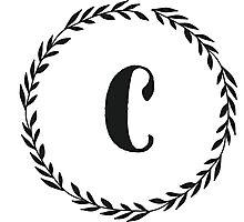 Monogram Wreath - C Photographic Print