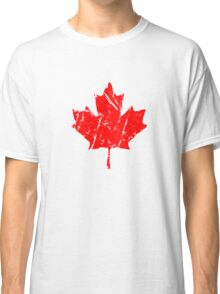 Maple Leaf - Canadian Flag - Vintage Look Classic T-Shirt