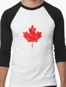 Maple Leaf - Canadian Flag - Vintage Look Men's Baseball ¾ T-Shirt