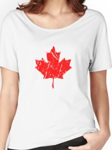 Maple Leaf - Canadian Flag - Vintage Look Women's Relaxed Fit T-Shirt