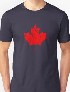 Maple Leaf - Canadian Flag - Vintage Look T-Shirt