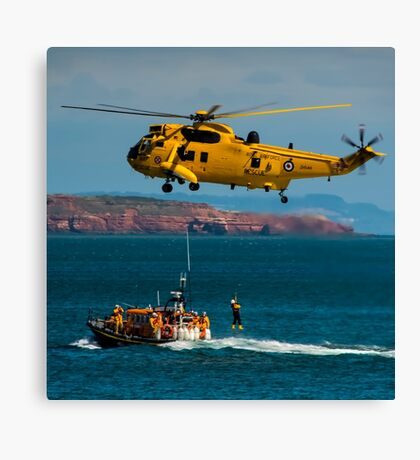 Rescue Practice at Dawlish Airshow Canvas Print
