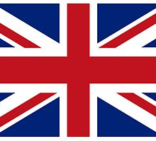 Flag of the United Kingdom, Union Jack, Britain, British flag, Pure & Simple by TOM HILL - Designer