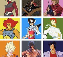 80's heroes by HikenNoFlo