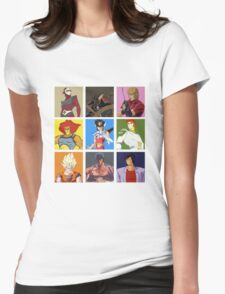 80's heroes Womens Fitted T-Shirt