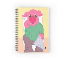Pig on the Hopper Spiral Notebook