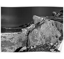 Back Light - Prieshach Cove (Black & White) Poster