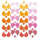 Hearts Lined Up by Victoria Ellis