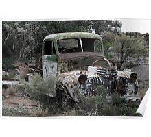Old Holden car wreck Poster