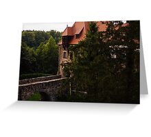Castle At Sunset Greeting Card