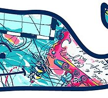 lilly pulitzer whale by Emily Grimaldi