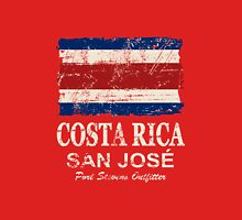 Costa Rica Flag - Vintage Look Unisex T-Shirt