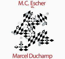 M.C. Escher vs. Marcel Duchamp Unisex T-Shirt