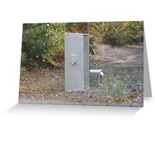 Foxboro Train Signal's Electric Box activater on track Greeting Card