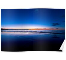 Blue Sunrise - Mission Beach Poster