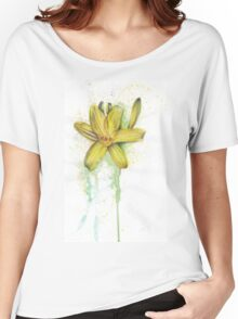 Yellow Lily Women's Relaxed Fit T-Shirt