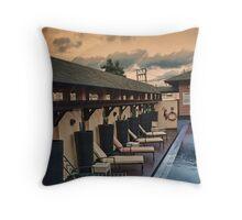 Poolside Sunrise Throw Pillow