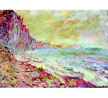 Monet Seaside Generative Rip-off Photographic Print