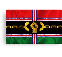 VICTORY Version Pan-African Flag Canvas Print