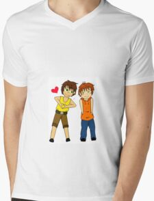 Chibi spamano Mens V-Neck T-Shirt