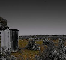 Outhouse out yonder by Penny Kittel
