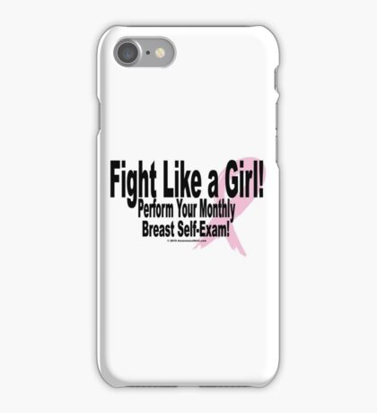 Fight Like A Girl - Version 1 iPhone Case/Skin