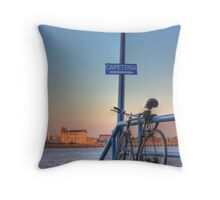 Gone for a brew Throw Pillow
