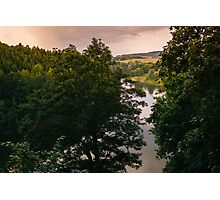 Sunset Forest Lake Photographic Print