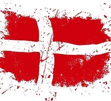 Denmark Flag - Vintage Look by Port-Stevens