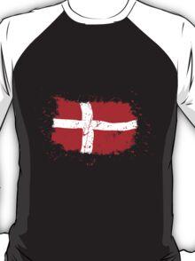 Denmark Flag - Vintage Look T-Shirt