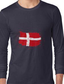 Denmark Flag - Vintage Look Long Sleeve T-Shirt