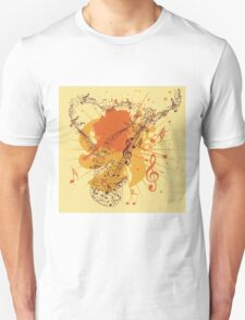Music Poster with Guitar 3 T-Shirt