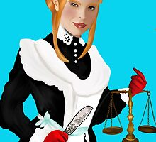 Justice Tarot Card by hezzabeth