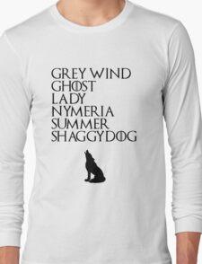 Stark Direwolves Long Sleeve T-Shirt