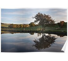 Autumn In Thorlby Near Skipton Poster