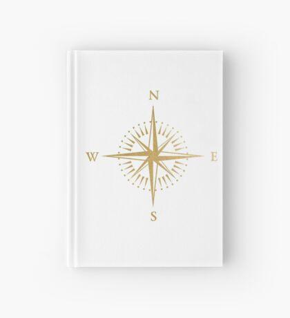 Gold compass travel journal Hardcover Journal