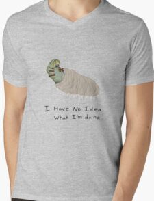 Confused Caterpillar Mens V-Neck T-Shirt