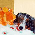 Plava & Orange Piggie by Diane  Kramer