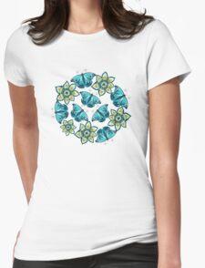 Blue butterflies Womens Fitted T-Shirt
