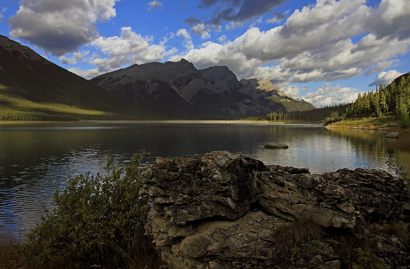Spray Lakes in summer by Michael Collier