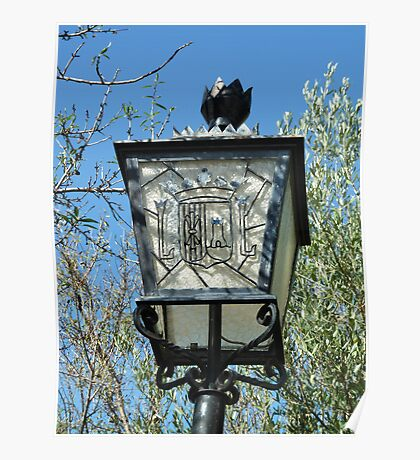 Streetlight with Javea town crest Poster