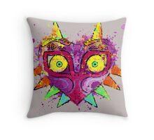 Zelda mask majora Throw Pillow
