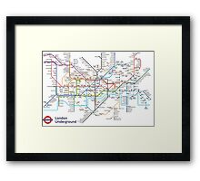 London Underground MAP Framed Print