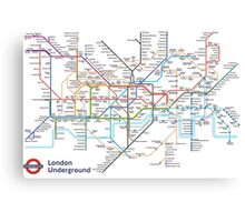 London Underground MAP Canvas Print