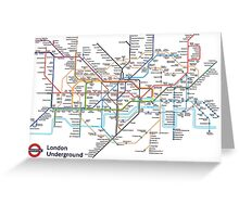 London Underground MAP Greeting Card
