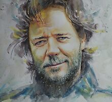 Russell Crowe - Portrait 1 by artsNportraits