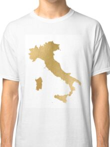 Gold Itlay map Classic T-Shirt