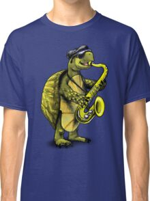Saxophone Playing Turtle Classic T-Shirt