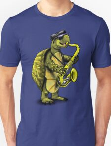 Saxophone Playing Turtle Unisex T-Shirt